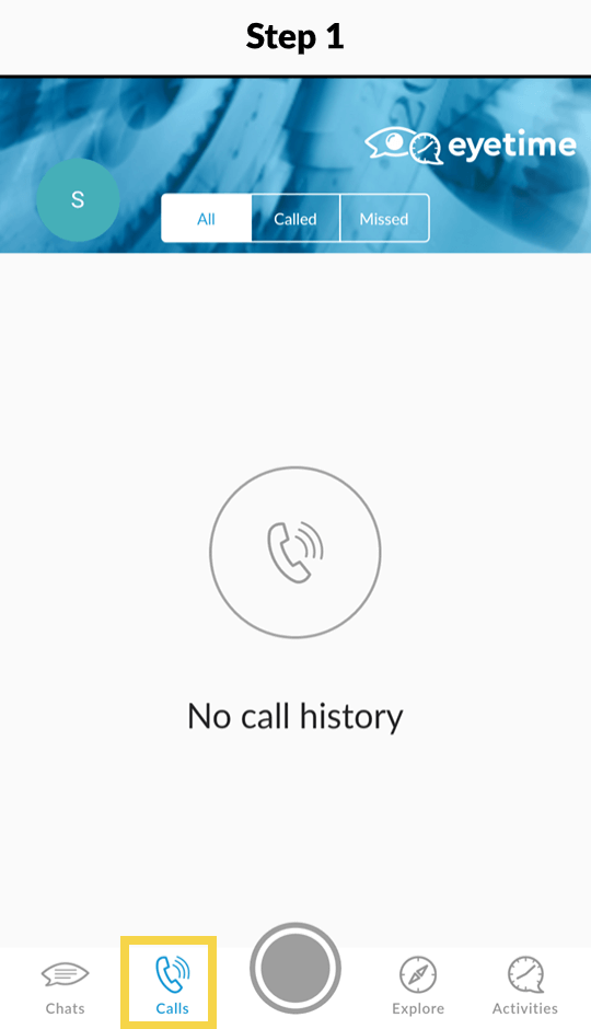 main video call and voice call screen
