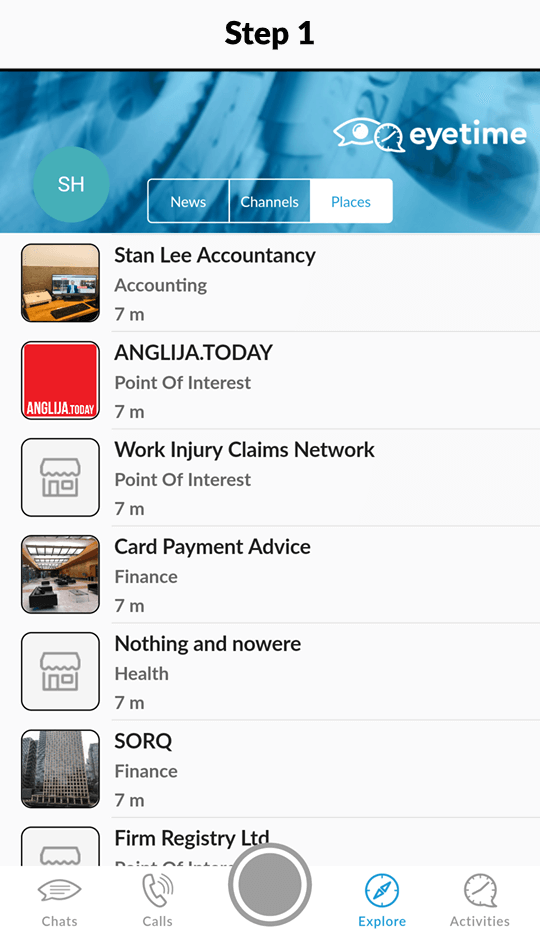 nearby places main screen - find what you are looking for in your local area
